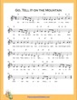 Thumbnail of First Page of Go Tell It on the Mountain (D Major) sheet music by Nursery Rhyme