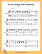 Thumbnail of First Page of If You Are Happy and You Know It  (C Major) sheet music by Nursery Rhyme