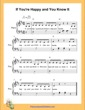 Thumbnail of First Page of If You Are Happy and You Know It  (D Major) sheet music by Nursery Rhyme