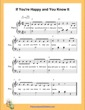 Thumbnail of First Page of If You Are Happy and You Know It  (F Major) sheet music by Nursery Rhyme
