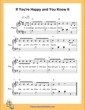 Thumbnail of First Page of If You Are Happy and You Know It  (G Major) sheet music by Nursery Rhyme