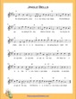 Thumbnail of First Page of Jingle Bells (A Major) sheet music by Christmas Carol
