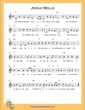 Thumbnail of First Page of Jingle Bells (F Major) (Right Hand) sheet music by Christmas Carol