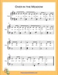 Thumbnail of First Page of Over in the Meadow Easy  (C Major) sheet music by Nursery Rhyme