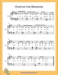 Thumbnail of First Page of Over in the Meadow Easy  (D Major) sheet music by Nursery Rhyme