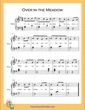 Thumbnail of First Page of Over in the Meadow Easy  (G Major) sheet music by Nursery Rhyme