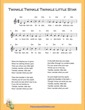 Thumbnail of First Page of Twinkle Twinkle Little Star D Minor sheet music by Nursery Rhyme