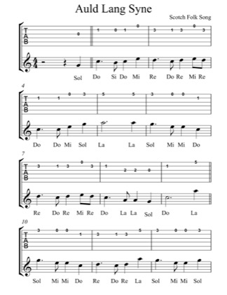 Thumbnail of first page of Auld Lang Syne piano sheet music PDF by Scottish Folk Song.