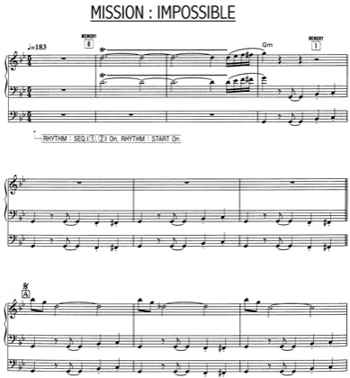 Thumbnail of first page of Mission Impossible piano sheet music PDF by Mission Impossible.