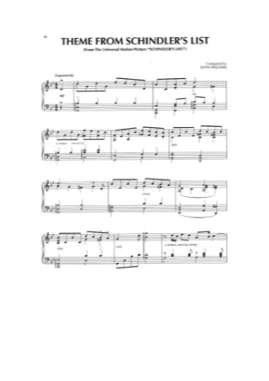 Thumbnail of first page of Schindler's List Theme piano sheet music PDF by Schindler's List.