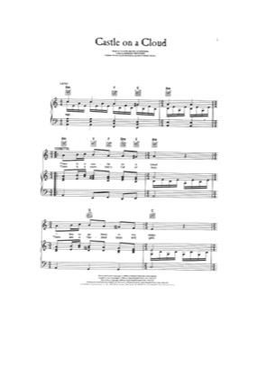 Thumbnail of first page of Castle on a Cloud (2) piano sheet music PDF by Les Miserables.