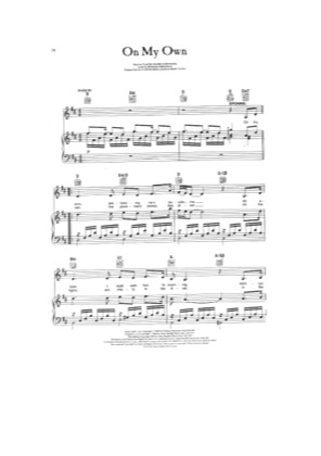 Thumbnail of first page of On My Own piano sheet music PDF by Les Miserables.