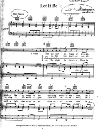 Thumbnail of first page of Let It Be (2) piano sheet music PDF by The Beatles.