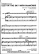 Thumbnail of First Page of Lucy in the Sky with Diamonds sheet music by The Beatles