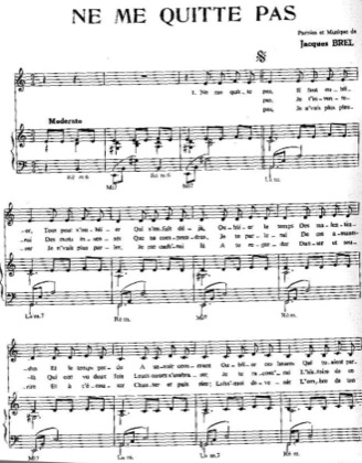 Thumbnail of first page of Ne me quitte pas piano sheet music PDF by Jacques Brel .