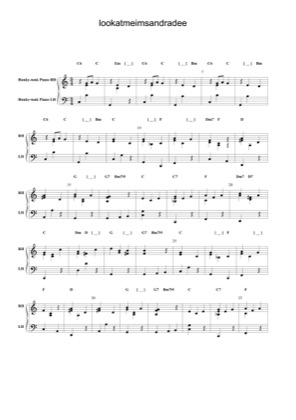 Thumbnail of first page of Look At Me , I'm Sandra Dee piano sheet music PDF by Grease.