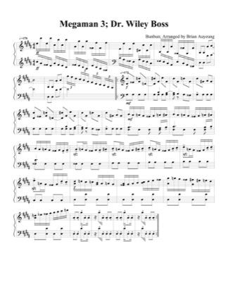Thumbnail of first page of Dr. Wiley Boss (2) piano sheet music PDF by Megaman 3.