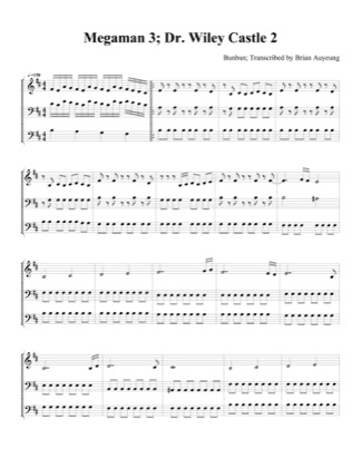 Thumbnail of first page of Dr. Wiley Castle 2 (2) piano sheet music PDF by Megaman 3.
