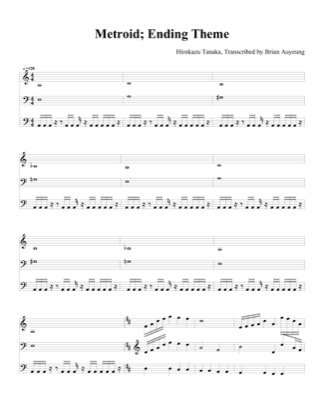 Thumbnail of first page of End Theme piano sheet music PDF by Metroid.