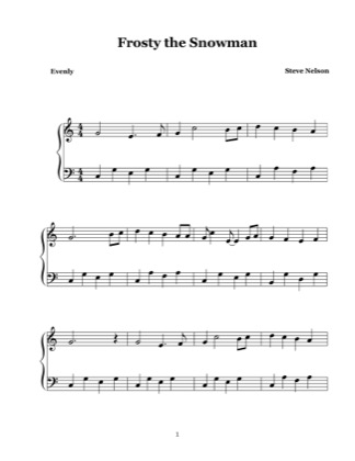 photograph regarding Frosty the Snowman Sheet Music Free Printable titled Frosty the Snowman by means of Steve Nelson Piano Sheet Songs