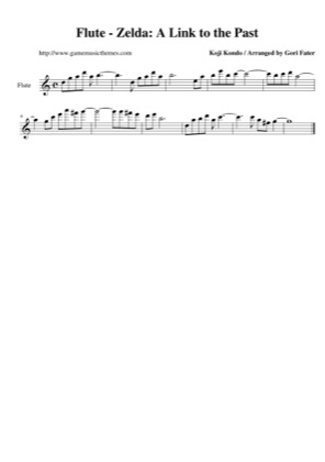 Thumbnail of first page of Flute piano sheet music PDF by The Legend of Zelda: A Link to the Past.