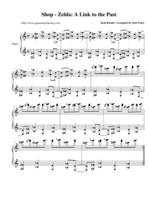 Thumbnail of first page of Shop piano sheet music PDF by The Legend of Zelda: A Link to the Past.