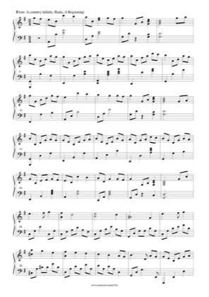 Thumbnail of first page of A country lullaby piano sheet music PDF by Rada.