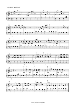 Thumbnail of first page of Afscheid van een vriend piano sheet music PDF by Clouseau.