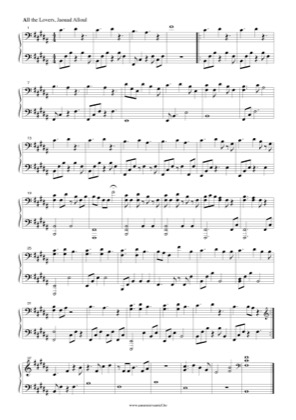 Thumbnail of first page of All the Lovers piano sheet music PDF by Jaouad Alloul.