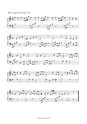 Thumbnail of first page of Angel by my Side piano sheet music PDF by The Do.