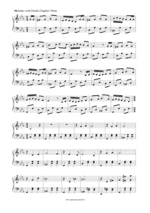 Thumbnail of first page of Charlie Chaplin's Titine piano sheet music PDF by Charlie Chaplin.