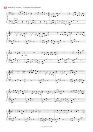 Thumbnail of first page of City of Stars piano sheet music PDF by La La Land.