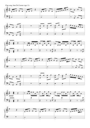 Cup Song By June De Ceuster Piano Sheet Music Sheetdownload