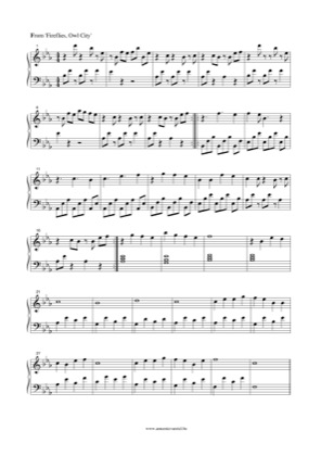 Thumbnail of first page of Fireflies (2) piano sheet music PDF by Owl City.