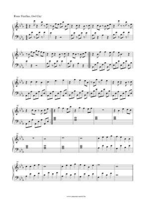 Thumbnail of first page of Fireflies(3) piano sheet music PDF by Owl City.
