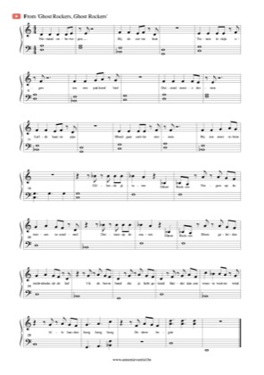 Thumbnail of first page of Ghost Rockers piano sheet music PDF by Ghost Rockers.