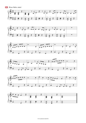 Thumbnail of first page of Hello piano sheet music PDF by Adele.