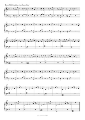 Hold Back The River By James Bay Piano Sheet Music
