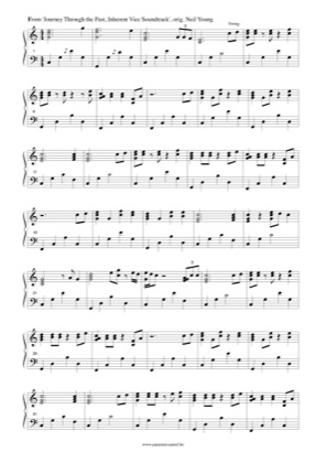 Thumbnail of first page of Journey Through the Past (Neil Young) piano sheet music PDF by Inherent Vice.