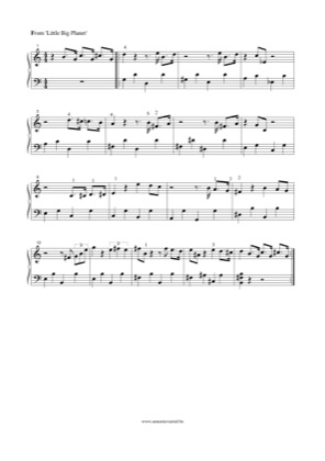 Thumbnail of first page of Little Big Planet piano sheet music PDF by Little Big Planet.