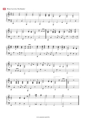 Thumbnail of first page of Let it Be (4) piano sheet music PDF by The Beatles.