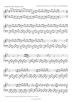 Thumbnail of first page of Around the world piano sheet music PDF by Maxence Cyrin.