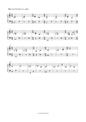 Thumbnail of first page of Make You Feel My Love piano sheet music PDF by Adele.