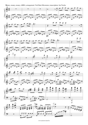 Thumbnail of first page of Money, Money, Money (2) piano sheet music PDF by ABBA.