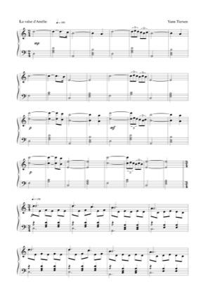 La Valse Damélie By Amélie Piano Sheet Music Sheetdownload