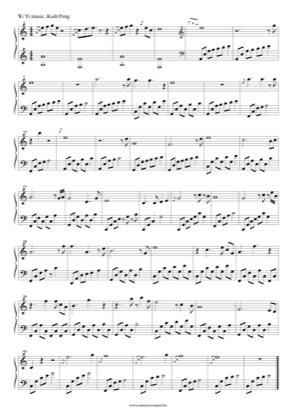 Thumbnail of first page of Yi Yi piano sheet music PDF by Yi Yi.