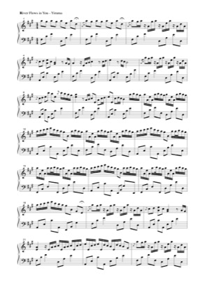 Thumbnail of first page of River Flows in You piano sheet music PDF by Yiruma.