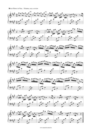 Thumbnail of first page of River Flows in You (Easy) piano sheet music PDF by Yiruma.