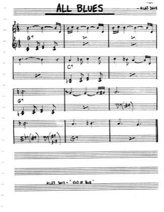 Thumbnail of first page of All Blues (Part 2) piano sheet music PDF by Miles Davis.