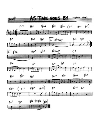 Thumbnail of first page of As Time Goes By piano sheet music PDF by Casablanca.